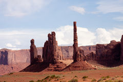 Totem Poles at Monument Valley Stock Photos