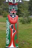 Totem Poles `Namgis First Nation Burial Ground, Alert Bay, BC Royalty Free Stock Photos