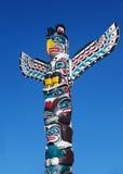 Totem Poles. Native American totem poles in British Columbia Royalty Free Stock Photo