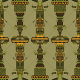 Totem poles seamless pattern Royalty Free Stock Images