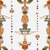 Totem poles seamless pattern Stock Image