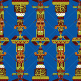Totem poles seamless pattern Royalty Free Stock Image