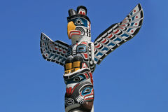 Totem Poles in Stanley Park, Vancouver, Canada Stock Photography