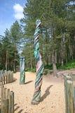 Totem Poles Royalty Free Stock Photo