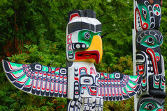 The Totem Poles Royalty Free Stock Photo