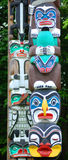 The Totem Poles Stock Images