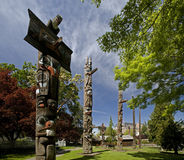 Totem Poles in Victoria Royalty Free Stock Images
