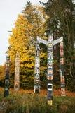 Totem Post Stanley Park Stock Photo