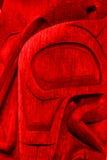Totem rouge Images libres de droits