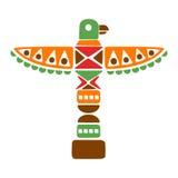 Totem spirituel religieux avec Eagle, copie ethnique de style de Boho inspirée par culture indienne indigène Images stock
