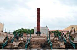 Totem Telurico am Piazza del Quinto Centenario Lizenzfreie Stockbilder