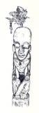 Totem-uomo Immagini Stock