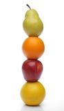 Totem variopinto della frutta fresca Fotografie Stock Libere da Diritti