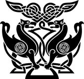 Totem. Vector illustration of  bird in celtic style with ornamental patterns Stock Photography