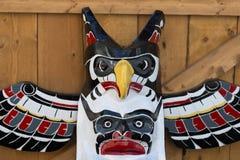 A totem wood pole detail Stock Photos
