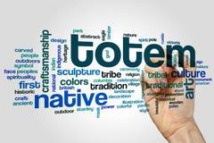 Totem word cloud stock photo