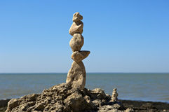 Totem of zen stones Royalty Free Stock Images