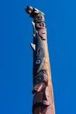 TotempåleAlaska inuit arkivfoto