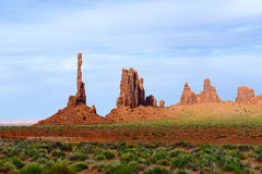 Totempaal, de Vallei van het Monument Stock Afbeelding