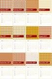 Totempaal en van Boedha goud kleurde geometrische patronenkalender 2016 royalty-vrije illustratie