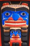 Totempaal in Noord-Amerika Royalty-vrije Stock Fotografie