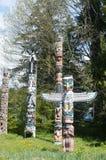 Totempfahl in Stanley Park Canada Lizenzfreies Stockfoto