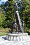 Totempfahl in Stanley Park Canada Stockfoto