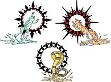 Totems - animais com sinais solares ilustração do vetor