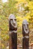 Totems do norte dos povos Foto de Stock