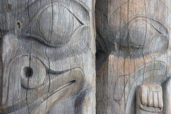 totems två Arkivbilder