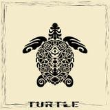 Totemu słup - żółw royalty ilustracja