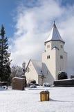 Totenberg cemetery and the Peterskirche in Heidenheim in winter Stock Photos