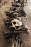 Totenköpfe mit gekreuzter Knochen Stockfotos