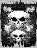 Totenkopf mit gekreuzter Knochen Stockfoto