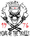Totenkopf mit gekreuzter Knochen/ein Kennzeichen der Gefahrenwarnung/der T-Shirt Grafiken Stock Abbildung