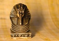 Totenmaske Tutankhamun der Vorderansicht stockbild