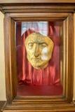 Totenmaske von Dante Alighieri in Florenz, Italien Stockbild