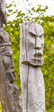 Totens dos aborígene de Kamchatka: Homens e Koryak do ` de Itel fotografia de stock