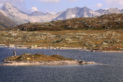 Totensee at Grimsel pass Stock Images