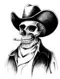 Toter Cowboy lizenzfreie abbildung