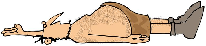 Toter Höhlenbewohner Stockfoto