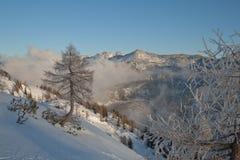 Totes Gebirge winter landscape Stock Photo