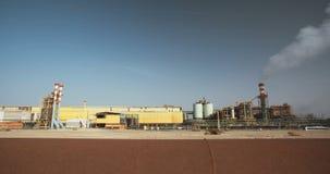 Totes Meer bearbeitet chemische Fabrik für Mineralien und Düngemittel, Totes Meer in Israel stock video
