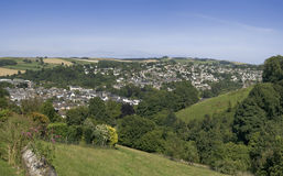 Totnes. A view over the town of totnes the south hams devon england uk Stock Photo