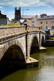 Totnes bridge in Totnes, Devon. In the heart of the town with the River Dart unning through it Royalty Free Stock Image