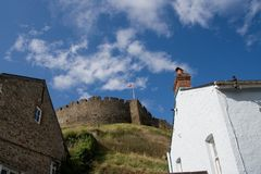 Totnes castle Stock Photo