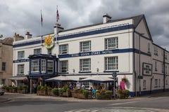 TOTNES, DEVOV/UK - 29. JULI: Königliches sieben Stern-Hotel bei Totnes I Lizenzfreie Stockfotos
