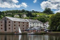 TOTNES, DEVOV/UK - JULY 29 : The Steam Packet Inn on the River D Royalty Free Stock Image