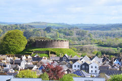 Totnes renown Castle in Hams Devon England. Totnes Castle is one of the best preserved examples of a Norman motte and bailey castle in England. It is situated in Royalty Free Stock Photos