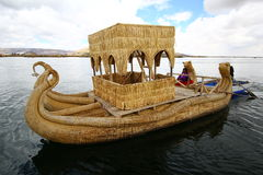 Totora boat, Peru Royalty Free Stock Photography